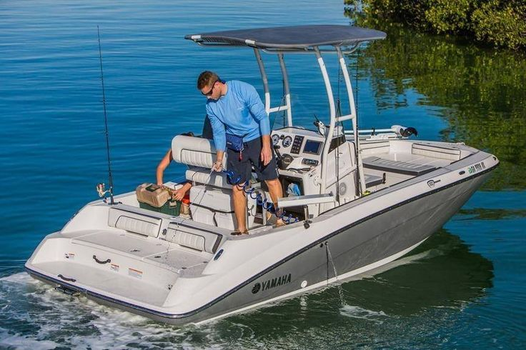 The only jet driven center console on the market. These boats are hot get yours while you can! 2016 #Yamaha FSH Sport.  #PerformanceEast #powersports #Goldsboro #NC #watercraft #boats #motorcycles