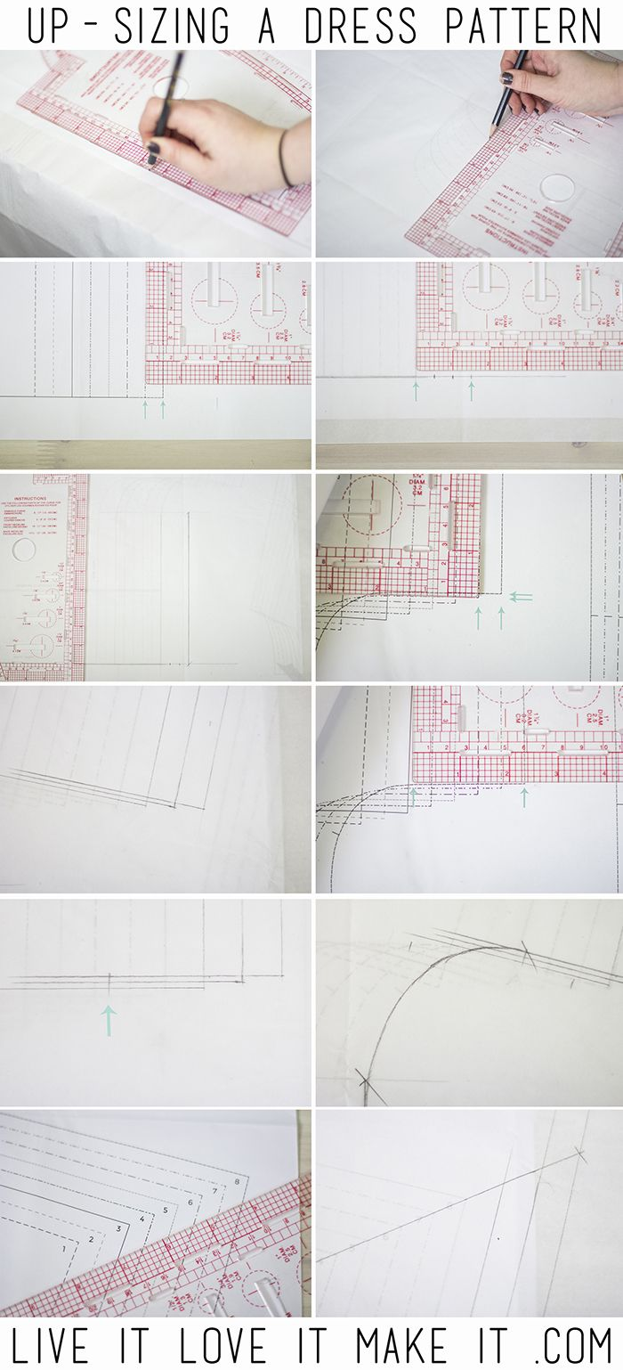 How to Size Up a Paper Pattern - featuring the Bettine dress