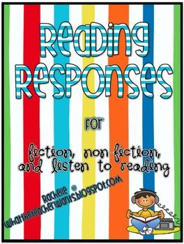 reading centers: Reading Response, Readers Respon, Reading Fiction, Language Art, Schools Ideas, Reading Ideas, Classroom Ideas, Free Reading, Respon Freebies