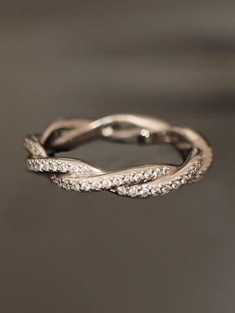 Michael B. Double Twist Eternity Band