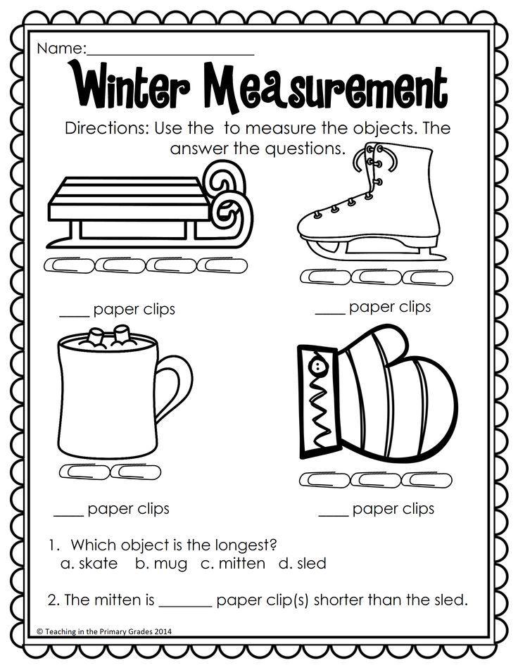 Winter Math and Literacy Printables-No Prep