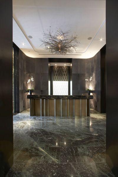 hazelton hotel, toronto ON,  front desk (yabu pushelberg) #luxury #interiors #hotel