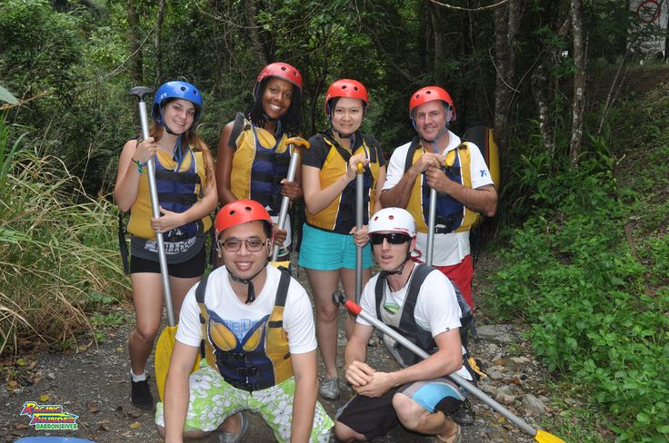 Water rafting in the Barron River