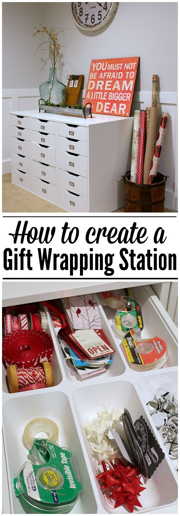 Gift wrap storage ideas - 17 Best Ideas About Gift Wrap Station On Pinterest Gift Wrap Storage Wrapping Paper Storage And Craft Station