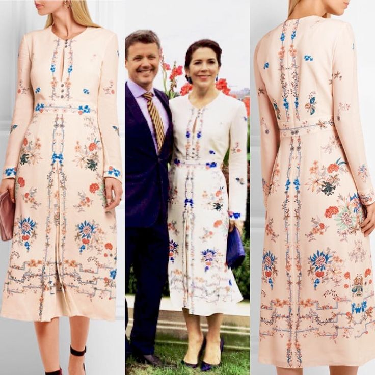 """Mary's beautiful dress that she wore yesterday is from Vilshenko called """"Jerry Floral"""". Princess Charlene has worn this dress too"""