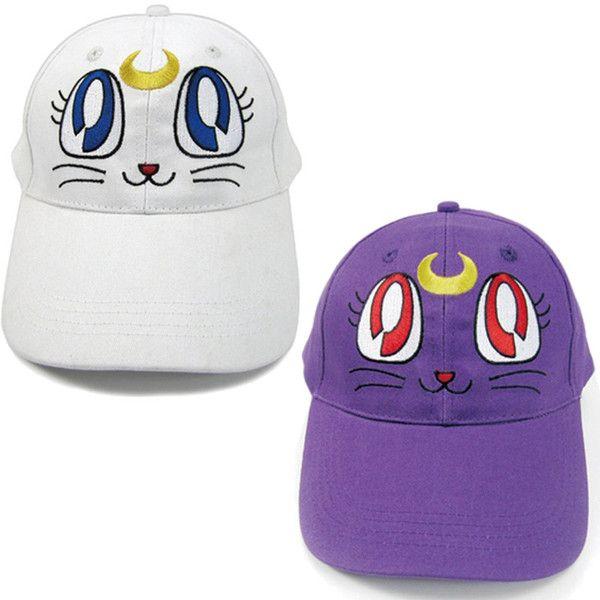 $34.99 + FREE SHIPPING! Sailor Moon Luna Cat Baseball Hat Cap White & Purple - OtakuForest.com