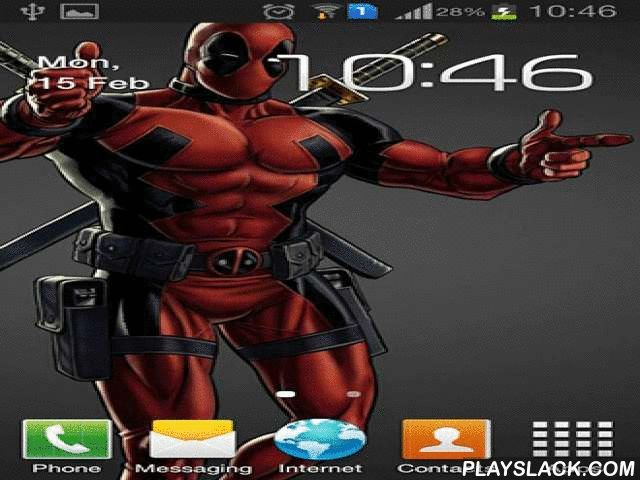 Deadpool  Android App - playslack.com , Deadpool - live wallpapers with your best-loved character of films and performers! The app has a capital of high standard theme images as well as easy and easy-to-use settings.