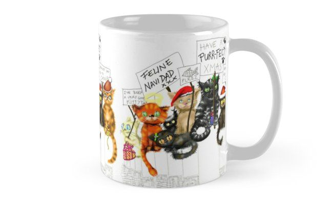 What to get the cat lover in your life this Christmas!    #mug #cat #catlover #feline #christmas #christmascats #xmas #xmascats