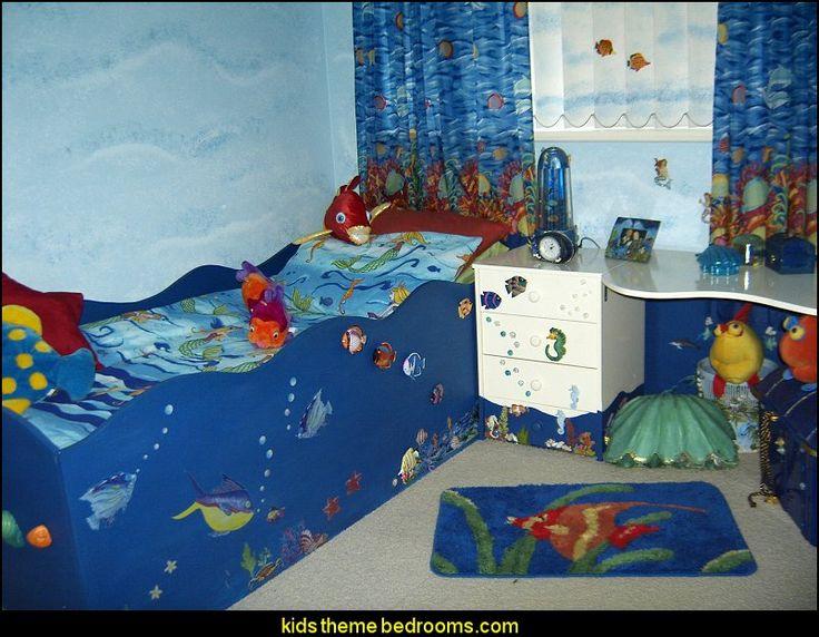 Ocean Bedroom Ideas Mermaid Theme Bedrooms Sea Life Decorating