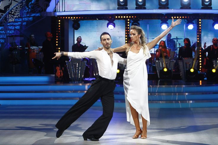 Diana Munteanu wearing Marie Ollie at Dancing with the Stars TV show.