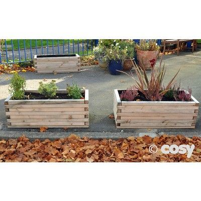 SIMPLE LONG PLANTERS (4PK) - Cosy Direct