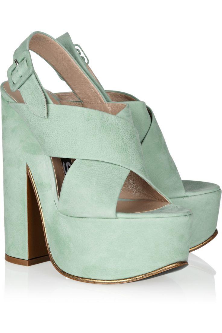 Sweet Geezuz!     ROCHAS    #shoeporn: Shoes, Fashion, Style, Textured Leather Platform, Rochas Textured Leather, Rochas Platform, Platform Sandals