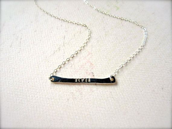 custom tiny name necklace - silver name necklace, personalize, initial, nickname, everyday, silver mom necklace, tiny name bar necklace on Etsy, $45.00