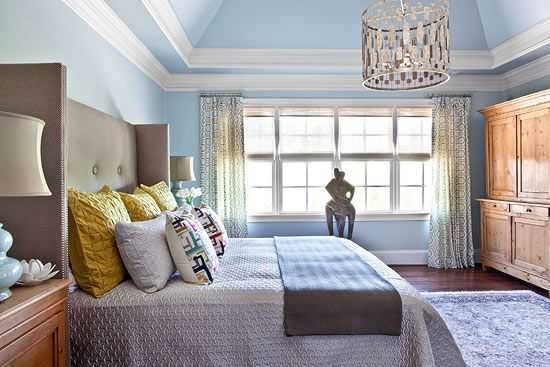 ~Blue Hues~ Bedroom Decorating Ideas: Modern and Sophisticated - Traditional Home®