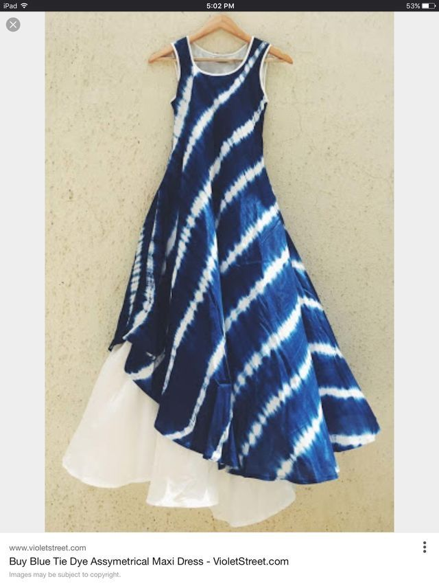 Inspiration for a layered indigo maxi-dress!