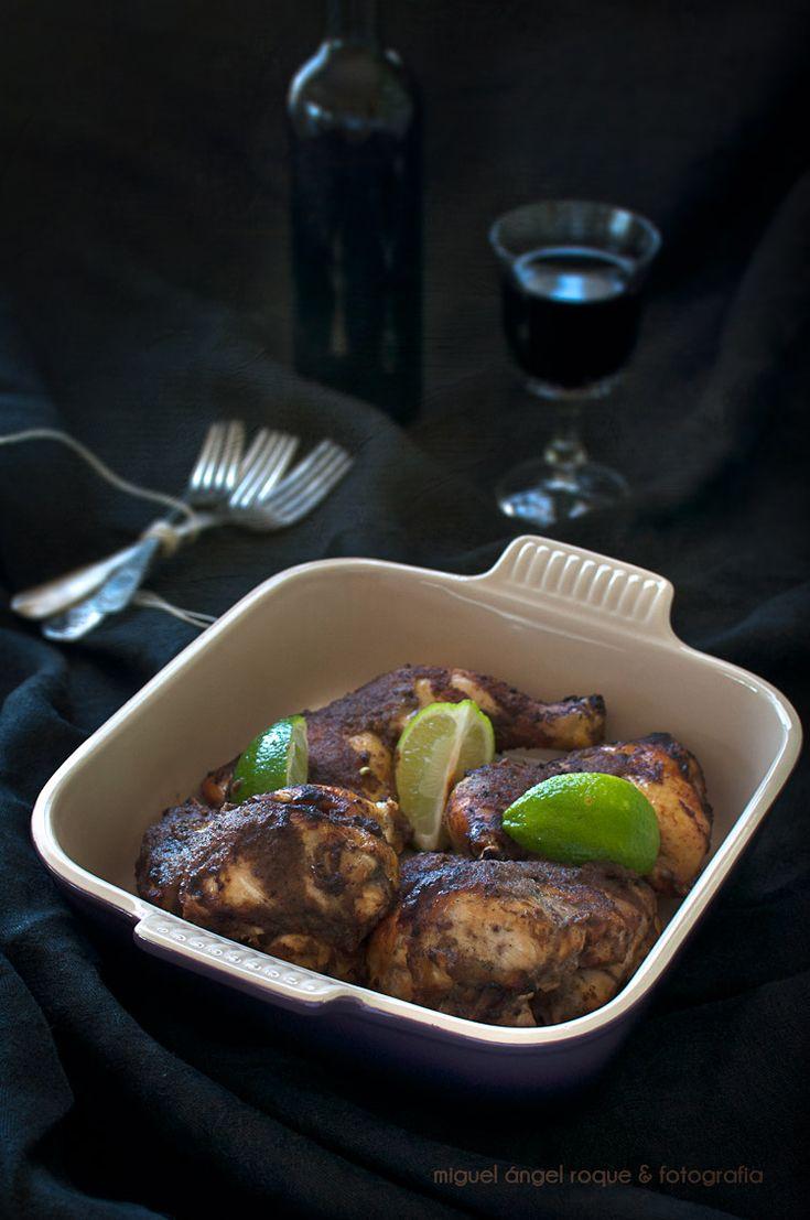 Pollo a la jamaicana