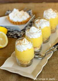 tarte citron meringuée revisitée verrine
