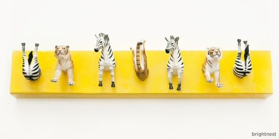 DIY ::: Whimsical TOY Animal Coat Rack Economic and FUN :)...
