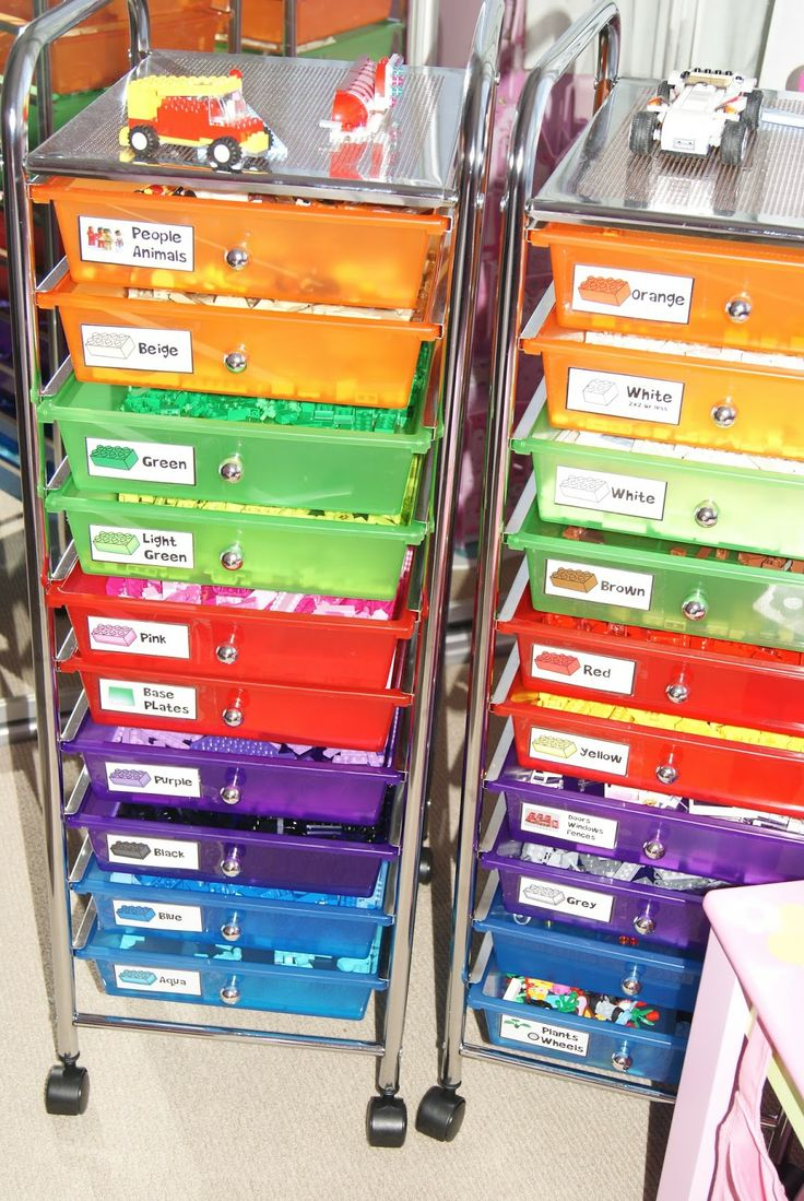 Lego Storage with Labels