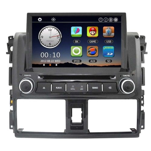 8 Car Radio Double 2 Din Car DVD Player GPS Navigation in Dash Car PC Stereo Head Unit for Toyota Vios 2014 +Free Map +Free Card