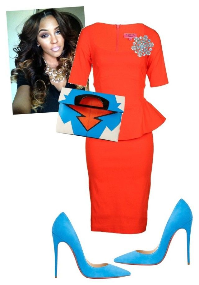 """108th Holy Convocation"" by cogic-fashion ❤ liked on Polyvore featuring The Pretty Dress Company, Christian Louboutin and Susan Caplan Vintage"