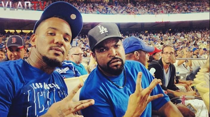 Game & Ice Cube at the Dodgers game