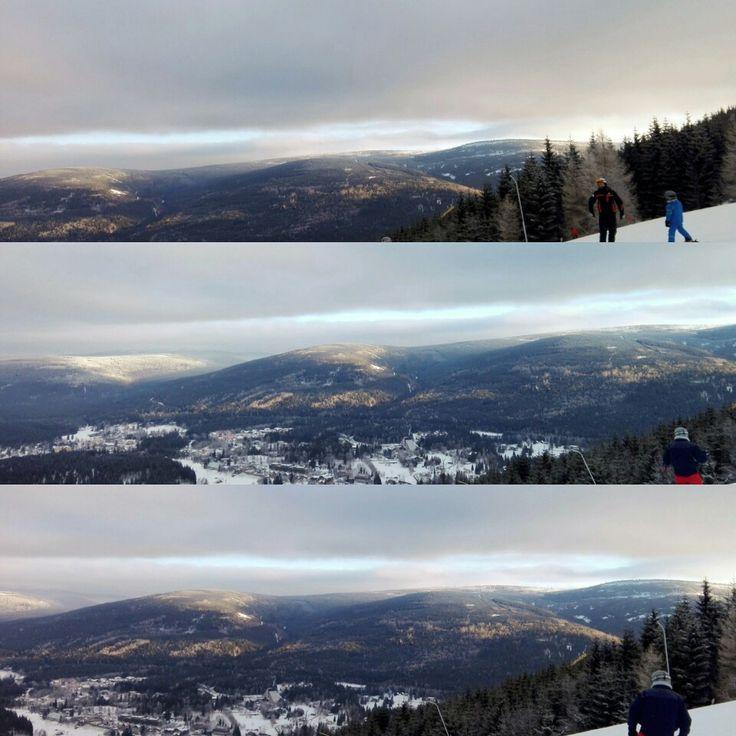 #sky #sun #mountains #czechrepublic #czechmountains #krkonoše #harrachov #winter #snow
