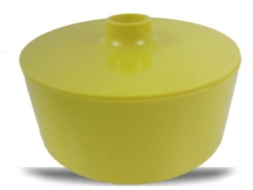 Vintage Heller Massimo Vignelli Yellow Melamine mid-century modern dinnerware bowl & lid, 1960's. www.Connectibles.net