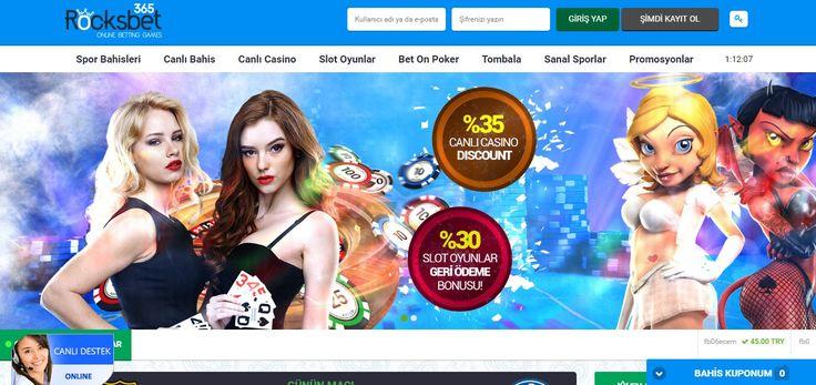 Rocksbet - Rocksbet sitesiSpor Bahisleri, Canlı Casino, Casino (Slot ve Video), Poker,Tombala,Türk Pokeri, Okey, Tavla, Virtual Oyunlar gibi alanlarda kullanıcılarına hizmet verecek olan bir sitedir. Rockstar Gaming Limited'e ait olan sitenin lisans bilgileri siteden8225/JEB2011-071 numarasıyla... - http://betmag.net/rocksbet/