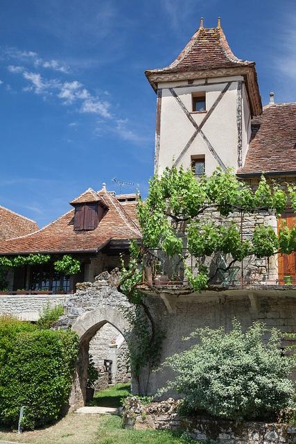 Loubressac village, departement du Lot, France