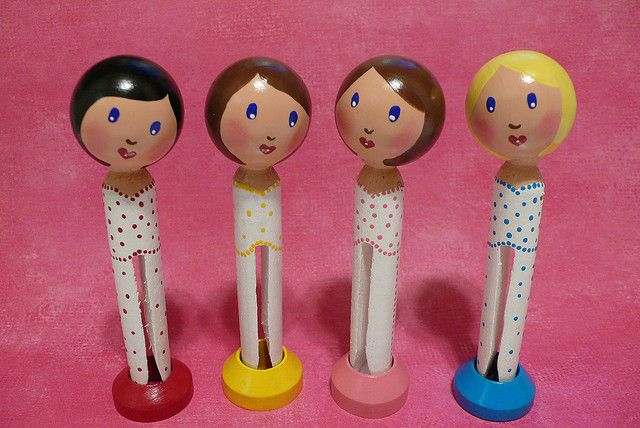 Give me your guess! Clothespin Dolls | Flickr - Photo Sharing!