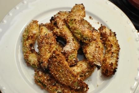 Baked Avocado Fries. - this was Heaven wrapped in bread crumbs. I