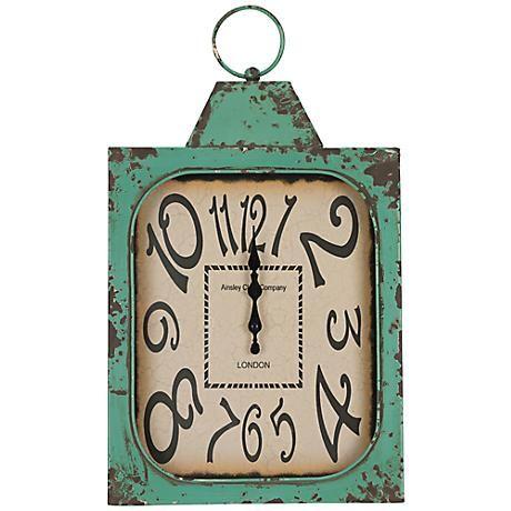 "Cooper Classics Stasia 19"" High Eclectic Wall Clock"
