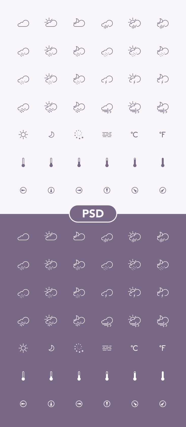 Free Weather Icons, #Free, #Graphic #Design, #Icon, #PSD, #Resource, #Weather