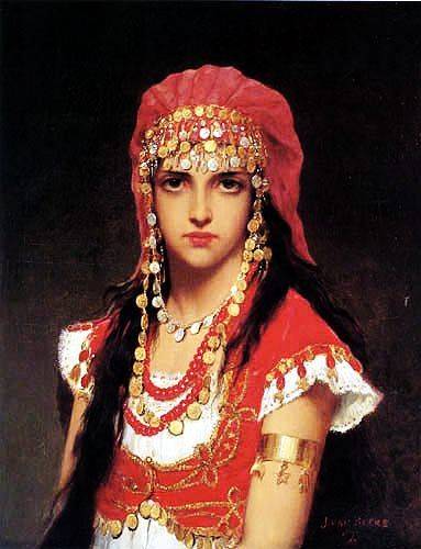 Jan van Beers (1852-1927) - Young Arabian Girl. Circa 1877. Oil on Canvas.