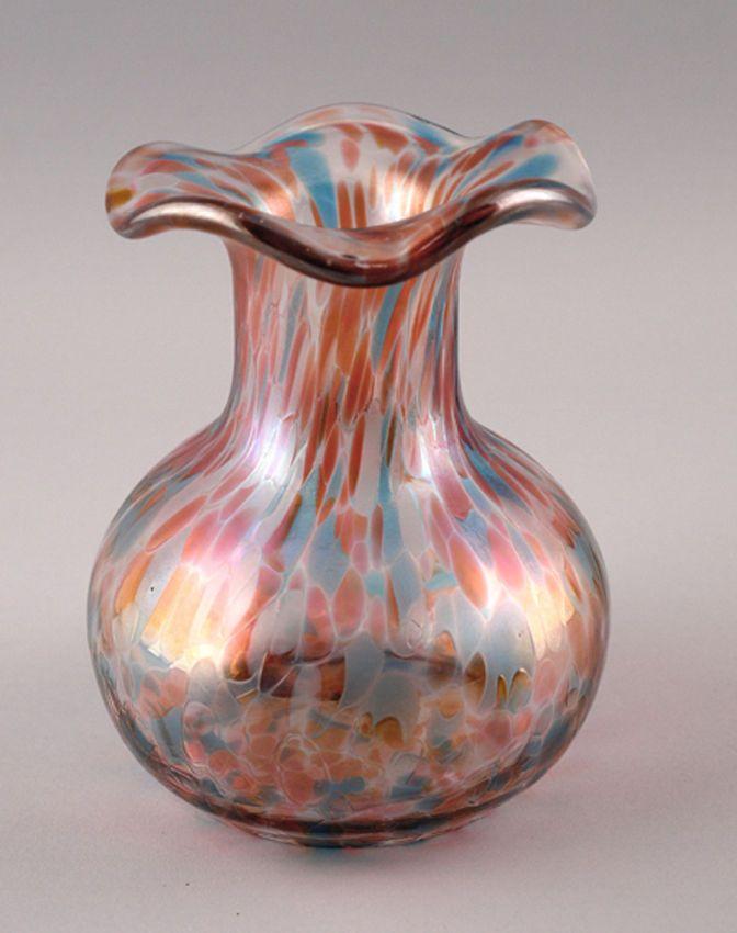 Vase im Jugendstil  Irisierung Kröselaufschmelzungen 9935800