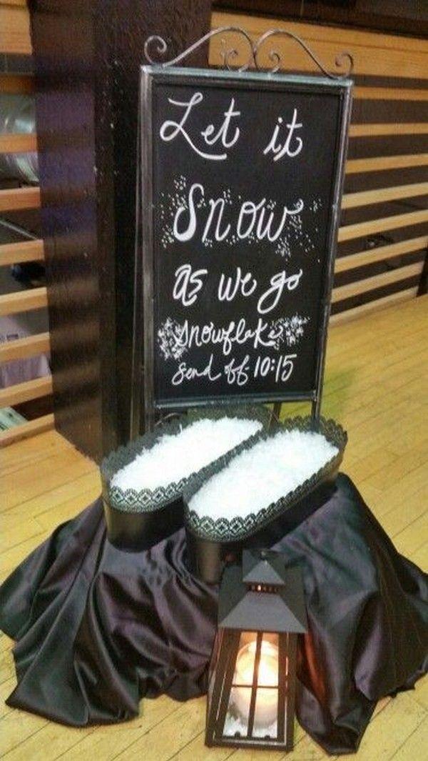 kreative schnee konfetti hochzeit #hochzeit #hochzeiten #hochzeitsideen #romant …   – Romantic Weddings