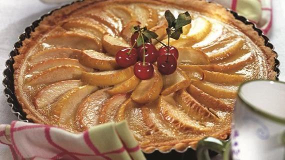 Яблочно-карамельный пирог. Пошаговый рецепт с фото
