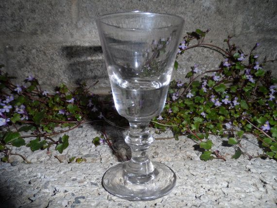 Antique dram glass  Victorian hand blown by EmpireAntiques on Etsy