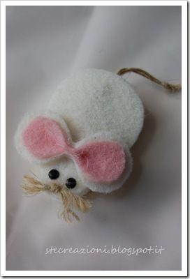 molletta di legno con topolino