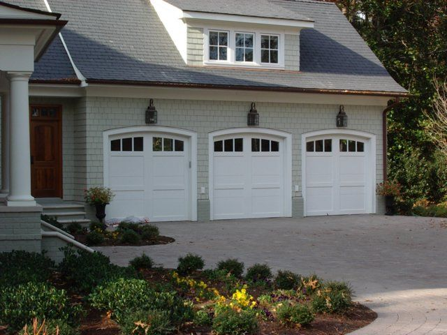 Colors garage door lights exterior design pinterest for Garage door colors