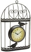 Great Ideas Shabby Chic Style Birdcage Garden Clock - Wall Mountable Black Metal Bird Cage With Vintage Victorian Station Effect Clock Face - Ideal For Indoor And Outdoor Use