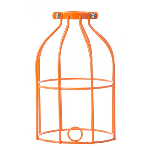 Industrial Light Bulb Cage - Orange Use with pendant kit plug into track