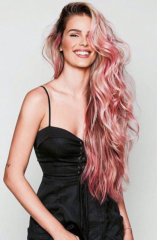 Pinterest: DEBORAHPRAHA ♥️ Yasmin Brunet with pastel pink hair color #hairstyles #pink #hair #color