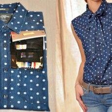 Transformer une chemise en chemise à col lavalière