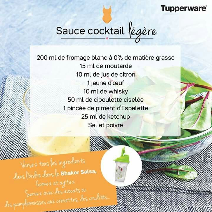 TUPPERWARE - sauce cocktail légère