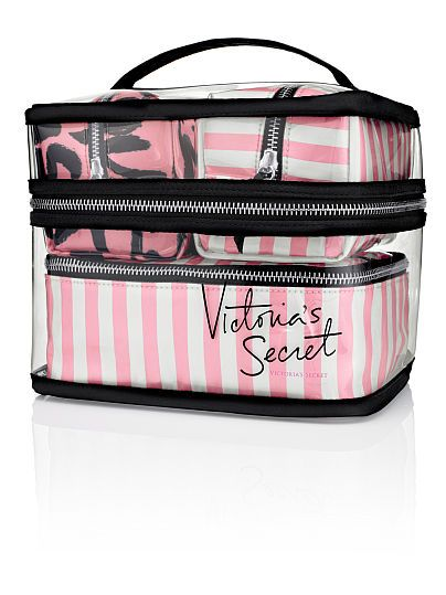 Four-piece Travel Case by Victoria's Secret | I have to have this.