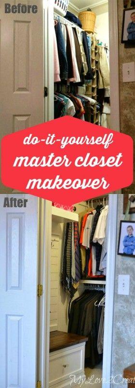DIY master closet makeover, MyLove2Create on Remodelaholic.com