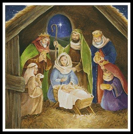 Nativity Painting Cross Stitch Pattern
