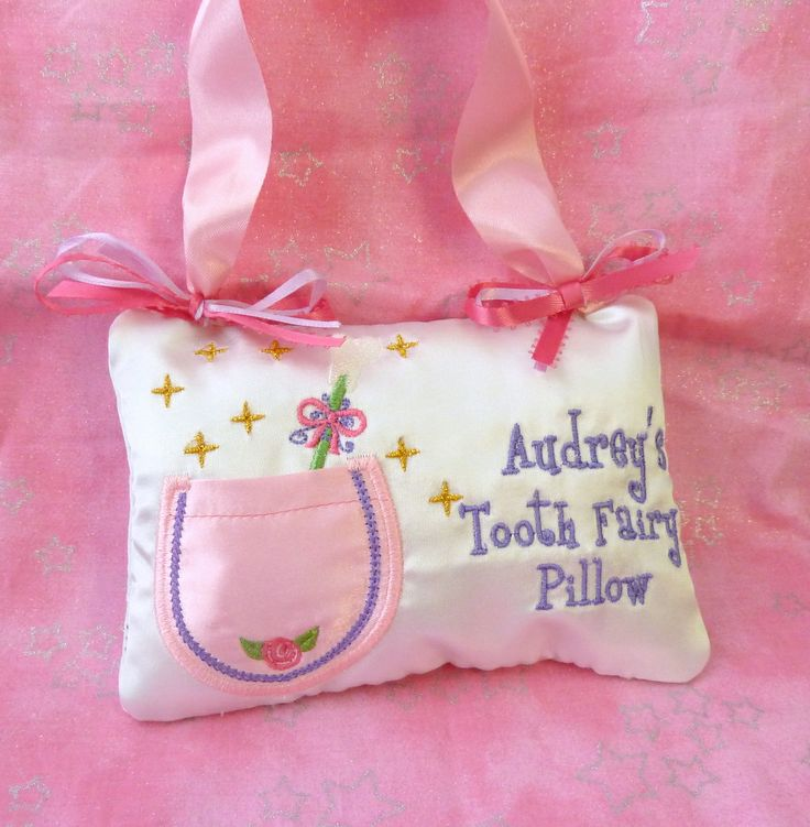 Tooth Fairy Pillow Embroidery Pattern